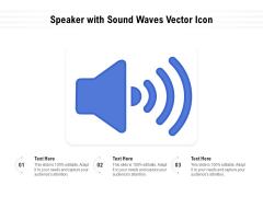 Speaker With Sound Waves Vector Icon Ppt PowerPoint Presentation Model Elements PDF