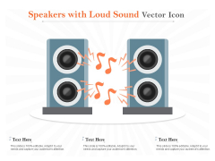 Speakers With Loud Sound Vector Icon Ppt PowerPoint Presentation Model Example