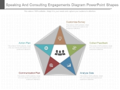 Speaking And Consulting Engagements Diagram Powerpoint Shapes