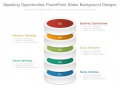 Speaking Opportunities Powerpoint Slides Background Designs