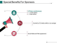 Special Benefits For Sponsors Ppt PowerPoint Presentation File Format