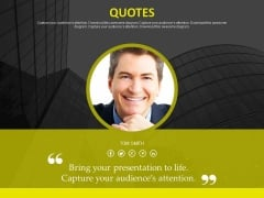 Special Quote Slide For Company Profile Powerpoint Slides