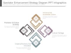 Spectator Enhancement Strategy Diagram Ppt Infographics