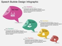 Speech Bubble Design Infographic PowerPoint Template