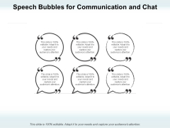 Speech Bubbles For Communication And Chat Ppt PowerPoint Presentation Infographics Backgrounds