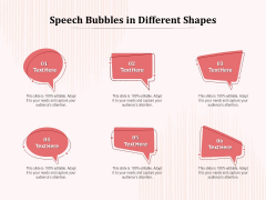 Speech Bubbles In Different Shapes Ppt PowerPoint Presentation Show Format
