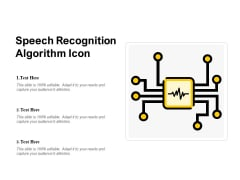 Speech Recognition Algorithm Icon Ppt PowerPoint Presentation Inspiration Outfit