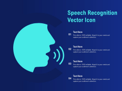 Speech Recognition Vector Icon Ppt PowerPoint Presentation Slides Information
