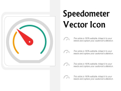 Speedometer Vector Icon Ppt Powerpoint Presentation Gallery Objects