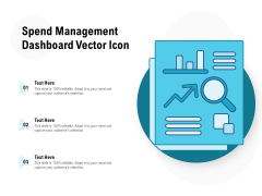 Spend Management Dashboard Vector Icon Ppt PowerPoint Presentation Outline Graphics Download