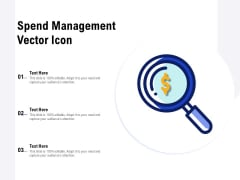 Spend Management Vector Icon Ppt PowerPoint Presentation Styles Show