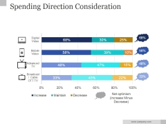 Spending Direction Consideration Ppt PowerPoint Presentation Layouts
