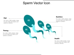 Sperm Vector Icon Ppt Powerpoint Presentation Professional Shapes
