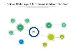 Spider Web Layout For Business Idea Execution Ppt PowerPoint Presentation Gallery Pictures PDF