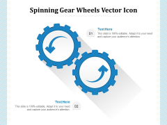 Spinning Gear Wheels Vector Icon Ppt PowerPoint Presentation Outline Icon PDF
