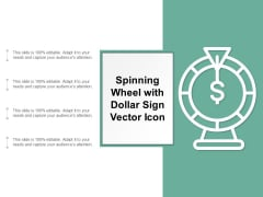 Spinning Wheel With Dollar Sign Vector Icon Ppt PowerPoint Presentation Portfolio Deck Cpb