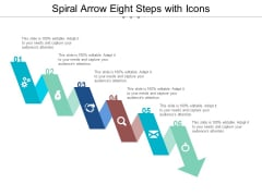 Spiral Arrow Eight Steps With Icons Ppt PowerPoint Presentation Portfolio Example