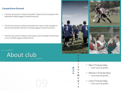 Sponsor Brands In Sports About Club Ppt File Graphics Template PDF