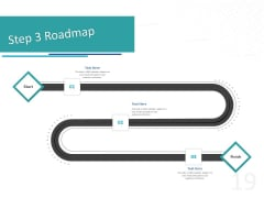 Sponsor Brands In Sports Step 3 Roadmap Ppt File Shapes PDF