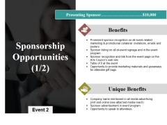 Sponsorship Opportunities Template 1 Ppt PowerPoint Presentation Inspiration Slides