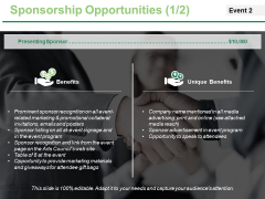 Sponsorship Opportunities Template 1 Ppt PowerPoint Presentation Slides Backgrounds