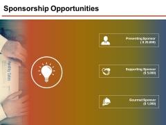 Sponsorship Opportunities Template 1 Ppt PowerPoint Presentation Slides Samples