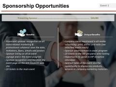 Sponsorship Opportunities Template 2 Ppt PowerPoint Presentation Inspiration Format Ideas