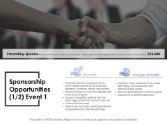 Sponsorship Opportunities Template 2 Ppt PowerPoint Presentation Show Clipart Images