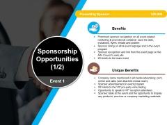 Sponsorship Opportunities Template 2 Ppt PowerPoint Presentation Slides Design Ideas