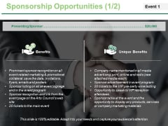 Sponsorship Opportunities Template 2 Ppt PowerPoint Presentation Summary Slideshow