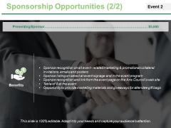 Sponsorship Opportunities Template 3 Ppt PowerPoint Presentation Outline Smartart