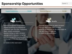 Sponsorship Opportunities Template 3 Ppt PowerPoint Presentation Pictures Design Templates