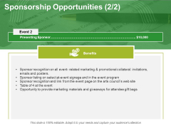 Sponsorship Opportunities Template 3 Ppt PowerPoint Presentation Summary Background Images