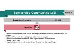Sponsorship Opportunities Template 4 Ppt PowerPoint Presentation Design Ideas