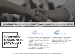 Sponsorship Opportunities Template 4 Ppt PowerPoint Presentation Gallery Graphic Tips