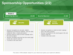 Sponsorship Opportunities Template 4 Ppt PowerPoint Presentation Professional Skills
