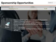 Sponsorship Opportunities Template 5 Ppt PowerPoint Presentation Infographics Portfolio