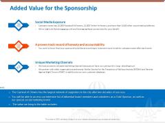 Sponsorship Request Letter Samples Added Value For The Sponsorship Inspiration PDF