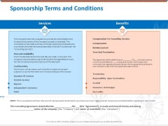 Sponsorship Request Letter Samples Sponsorship Terms And Conditions Professional PDF