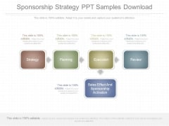 Sponsorship Strategy Ppt Samples Download