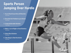 Sports Person Jumping Over Hurdle Ppt PowerPoint Presentation Layouts Rules