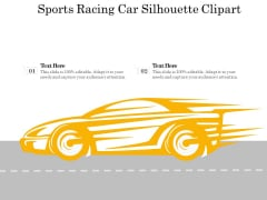 Sports Racing Car Silhouette Clipart Ppt PowerPoint Presentation Gallery Icon PDF