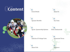Sports Tournament Championship Content Ppt Pictures Example PDF