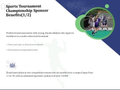 Sports Tournament Championship Sponsor Benefits Ppt Pictures Outfit PDF