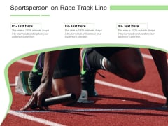 Sportsperson On Race Track Line Ppt PowerPoint Presentation Gallery Model PDF
