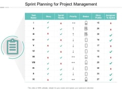 Sprint Planning For Project Management Ppt PowerPoint Presentation File Inspiration