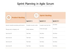 Sprint Planning In Agile Scrum Ppt PowerPoint Presentation Professional Clipart
