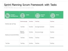 Sprint Planning Scrum Framework With Tasks Ppt PowerPoint Presentation File Slide Download