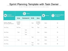 Sprint Planning Template With Task Owner Ppt PowerPoint Presentation Summary Gridlines