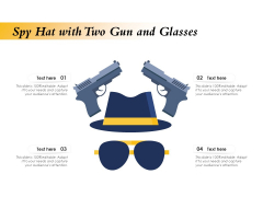 Spy Hat With Two Gun And Glasses Ppt PowerPoint Presentation Icon Pictures PDF